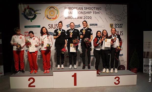 Србија шампион Европе ваздушним пиштољем за даме