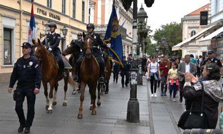 Dan MUP-a i Dan policije: Defile pripadnika Čete konjanika Policijske brigade i Orkestra policije