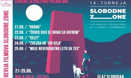 """Filmovi sa festivala """"Slobodna zona"""" od večeras u Centru za kulturu Požarevac"""