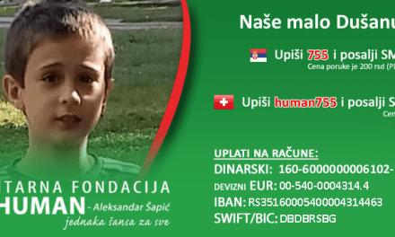 Budi human: Pomozimo Dušanu! Upišimo 755 i pošaljimo SMS na 3030