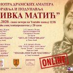 """Smotra """"Živka Matić"""" od večeras na Jutjub kanalu CZK Požarevac"""