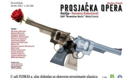 """Premijera predstave """"Prosjačka opera"""" OAP """"Branislav Nušić"""" iz Malog Crnića"""
